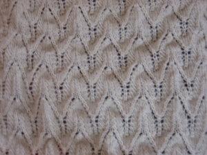Detail des Shawls