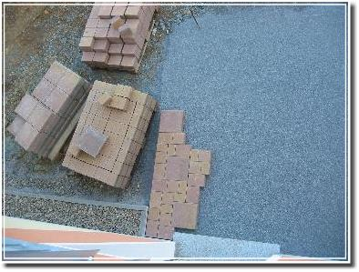 Terrassenpflasterunganfänge