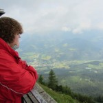 Blick vom Kehlsteinhaus nach Berchtesgaden