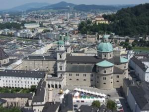 Sicht auf den Salzburger Dom